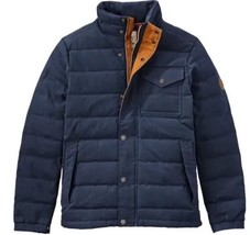 TIMBERLAND MEN'S MT DAVIS WAXED DOWN JACKET, DARK SAPPHIRE. SIZE: MEDIUM - $175.00