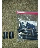 "1"" Diameter Wire Shelf Clips Split Sleeves Locking Plastic 8 pairs New - $5.45"