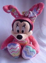 Disney Store Minnie Mouse Plush Stuffed Easter Bunny 14'' Pink - $13.67