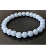 Angelite gemstone stretch bracelet #033 - $17.50