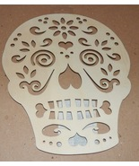 "Halloween Wooden Plaques Crafts Creatology 9"" x 7"" Los Muertos Fancy Sku... - $3.49"