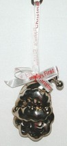 Roman Inc 36772 Babys First Christmas Santa Head Jingle Ornament Siver Color image 2