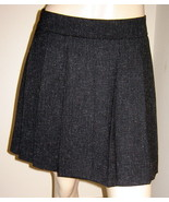 GAP Low Rise Black/Gray Flecked Short Stretch Pleated Skirt (6) NEW - $19.50