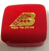 Vtg Red Plastic Italian Pisa Italy pill Box case Batini Facchin - $33.79