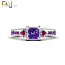 Solid 925 Sterling Silver Suicide Squad Harley Quinn Inspired Engagement... - £74.68 GBP
