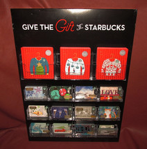 Give the Gift of Starbucks 2016 Holiday Gift Card Display w/ 146 Origina... - $258.90