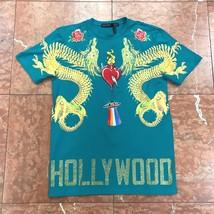 Men's Hollywood Dragon Green Tee Shirts by Hudson - $62.10