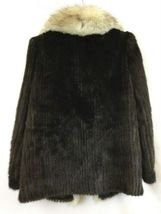 Vintage Maison Blanche Saga Mink Women's Dark Brown Fur Coat Size 10 image 3