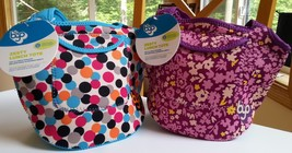 NWT (2) Built NY BYO Purple Flower Zesty Lunch Tote & Multi Dot Lunch Tote - €18,21 EUR