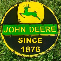 John Deere Since 1876 Recycled Metal Sign 24x24x1 - $119.99