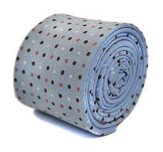Frederick Thomas Bébé Bleu Pointillé 100% coton cravate ft2162rrp - $24.38