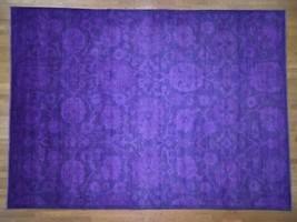 "10'2""x14' Overdyed Peshawar With Heriz Design Purple Oriental Rug G40974 - $2,314.28"