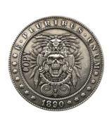 Hobo Nickel 1890-CC USA Morgan Dollar Skull Horror COIN For Gift  - $5.99