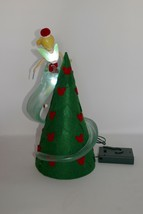 Disney Parks Tinker Bell Christmas Tree Topper Red Outfit Lights Up w/Box - $46.74
