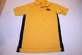 Men's Iowa Hawkeyes S Athletic Polo Collared Dress Shirt (Yellow) Pro Edge - $15.88