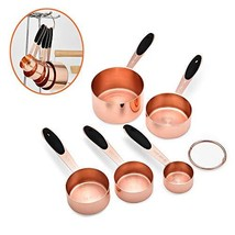 Copper Measuring Cups: Stainless Steel Measuring Cups Set of 5 Piece, fo... - $18.23