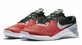 Nike Metcon 3 Men's Training Shoes 852928-600, University Red/Wolf Grey-... - $78.99