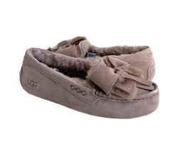 UGG ANSLEY BOW DUSK SHEARLING LINED MOCCASIN SHOE US 7 / EU 38 / UK 5 - $116.88