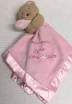 Okie Dokie Bear Pink Blanket Lovey Rattle Thank Heaven for Little Girls ... - $35.12 CAD