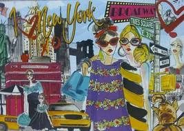 Ooh La La Take Me to New York Fashion Pop Art Jigsaw Puzzle 1000 pc NIB ... - $27.67