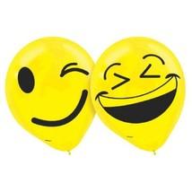 "Emoji LOL Birthday Party Latex 12"" Balloons 6 Ct - $3.98"