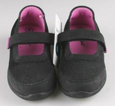Cat & Jack Girls Black Purple Eva Slip-On Flats Sneakers Toddler Size 9 US image 2