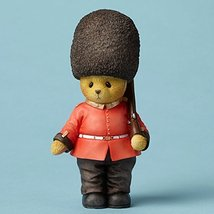 Enesco Cherished Teddies Collection Bear Wearing a British Guard Figurine, 4.5""