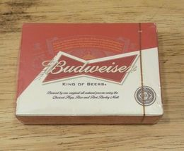 Budweiser Beer - Deck of Playing Cards - Bowtie Logo - NEW - Sealed  - $8.75