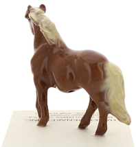 Hagen-Renaker Miniature Ceramic Horse Figurine Chestnut Shetland Pony Mare image 3