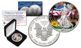 2016 1 oz .999 Fine Silver American Eagle Coin *30th COLORIZED* Ltd of 3... - $46.71