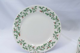 "Holly Berry Dinner Plates Made in China 10.75"" Lot of 11 - $68.59"