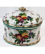 United Wilson JUWC 1897 Porcelain Pottery Covered Dish Gold Tone Accent ... - $79.19