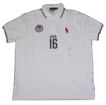 New Polo Ralph Lauren Men's Custom Fit Country White Jersey Shirt Usa Xl - $71.95