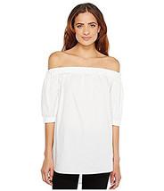 Michael Kors Womens Off Shoulder Top White L 4177-3 - $23.14