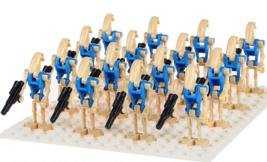 16pcs/lot Blue Battle Droid Star Wars Super Heroes Lego Minifigure Toys - $18.25