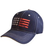 "MEN'S CHRISTIAN CAP ""IN GOD WE TRUST FLAG"" - $17.99"