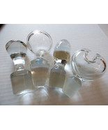 VTG Mixed Lot 4 VTG CLEAR GLASS STOPPERS DECANTER  MEDICINE REPLACEMENT - $51.48