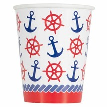 Nautical Summer 8 Ct Paper Hot Cold Cups Anchor - $3.26