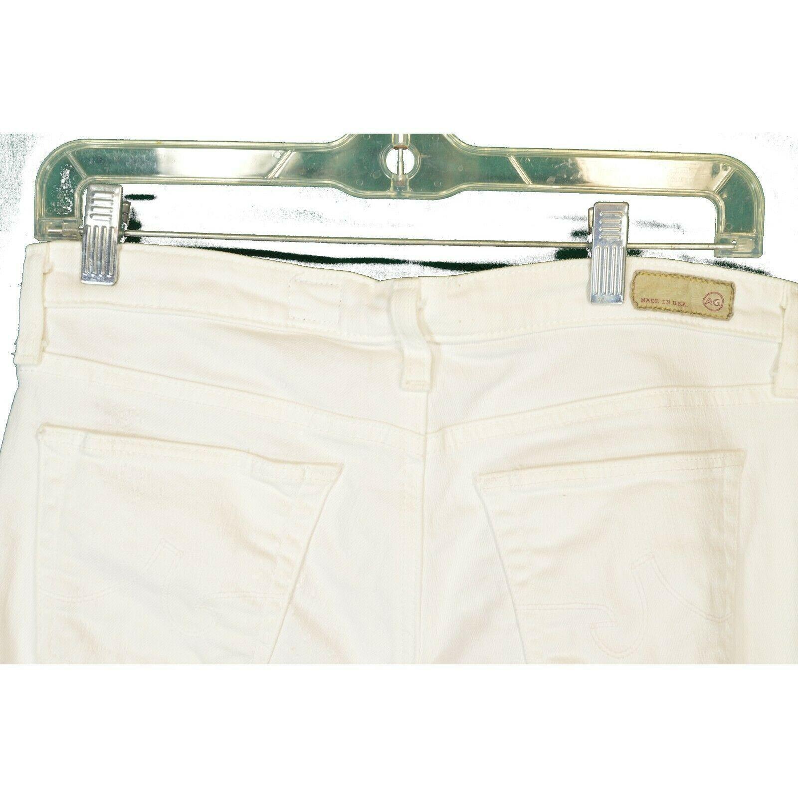 AG Adriano Goldschmied jeans 29 x 31 Stilt cigarette leg White thick EUCUSA image 12