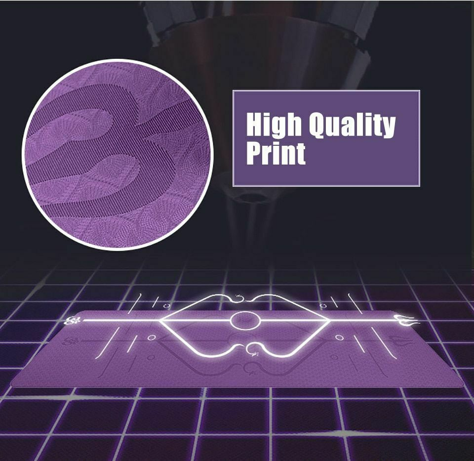 Mat Tpe Yoga Position Line Non Slip Carpet Free Carry Bag Best Quality Material