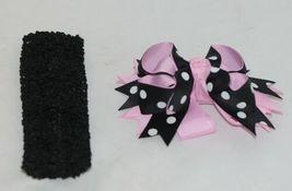 Unbranded Girl Infant Toddler Headband Removable Hair Bow Black Pink White image 4