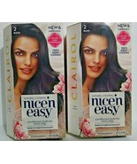 2 Boxes Clairol Natural Looking Nice 'n Easy Color Care Permanent #2 Black - $15.88