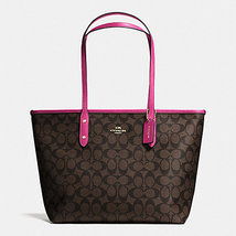 Coach CITY ZIP TOTE IN SIGNATURE COATED CANVAS  F 58292 - $129.99