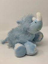 "Webkinz Plush Blue Rhino with Unused Sealed Code HM196 8"" Stuffed Animal - $6.92"