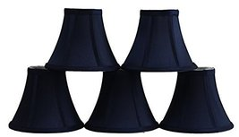 Urbanest Set of 5 Navy Blue Silk Bell Chandelier Lamp Shade, 3-inch by 6... - $28.70
