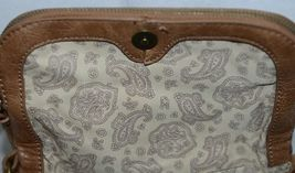 Simply Noelle Brand Tan Brown Color Floral Leaf Pattern Womens Purse image 8