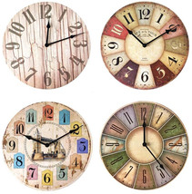 12 inch Wooden Clocks Brief Design Silent Home Cafe Office Wall Decor Cl... - $19.50+