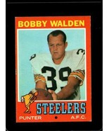 1971 TOPPS #102 BOBBY WALDEN EX STEELERS (WAX)  *X2668 - $1.73