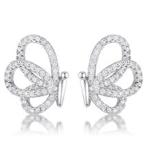 .45 Ct Cubic Zirconia Butterfly Stud Earrings - $20.00