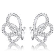.45 Ct Cubic Zirconia Butterfly Stud Earrings - $20.00